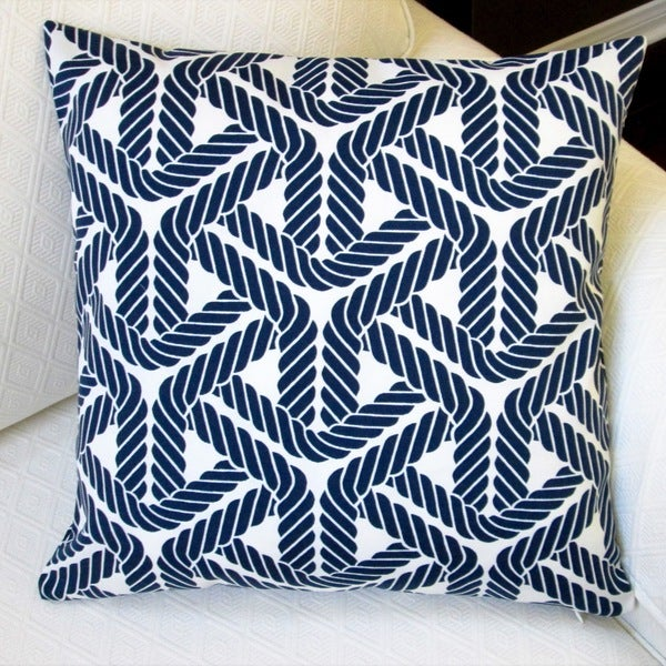 Navy Throw Pillow Sets : Artisan Pillows Outdoor 18-inch Trellis Navy Throw Pillow (Set of 2) - Free Shipping Today ...