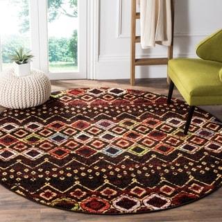 Safavieh Amsterdam Bohemian Black/ Multicolored Rug (7' Round)