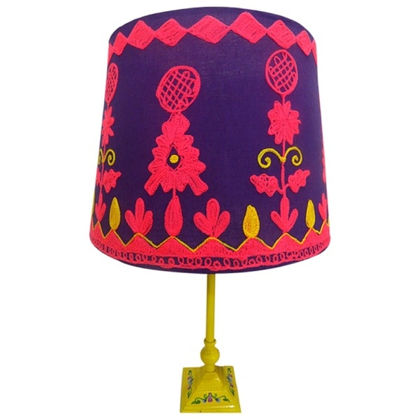 Rabari Lamp Shade in Purple