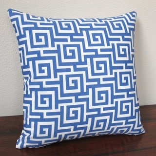 Artisan Pillows Outdoor 18-inch Greek Key in Blue Throw Pillows (Set of 2)