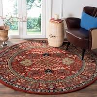 Safavieh Antiquity Traditional Handmade Red/ Multi Wool Rug - 6' Round