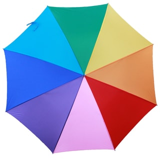 RainWorthy Rainbow Hardwood and Polyester 48-inch Automatic Umbrella