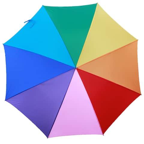 RainWorthy Rainbow Hardwood and Polyester 48-inch Automatic Umbrella