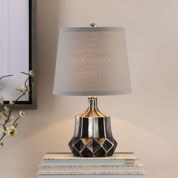 Uttermost Felice Dark Charcoal Accent Lamp