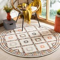 Safavieh Bellagio Handmade Bohemian Ivory/ Multi Wool Rug - 5' Round