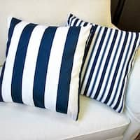 Artisan Pillows 18-inch Outdoor Navy Blue Throw Pillow Covers (Set of 2)