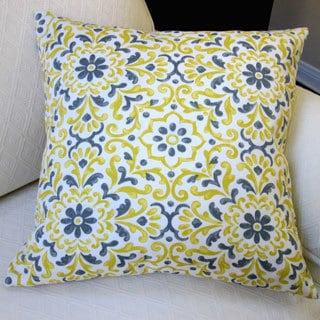 Artisan Pillows Jillara Printed Yellow/Blue Polyester 18-inch Outdoor Throw Pillow Covers (Set of 2)