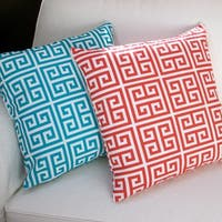 Artisan Pillows Greek 18-inch Outdoor Throw Pillow Covers (Set of 2)