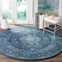 Safavieh Handmade Glamour Contemporary Bohemian Blue Viscose Rug - 6' Round