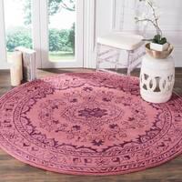 Safavieh Handmade Glamour Contemporary Bohemian Pink Viscose Rug - 6' Round