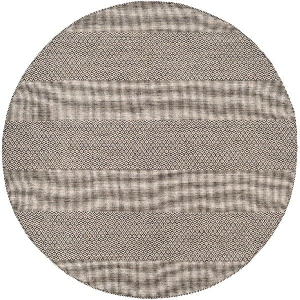 Safavieh Hand-Woven Montauk Flatweave Ivory/ Anthracite Cotton Rug - 6' Round