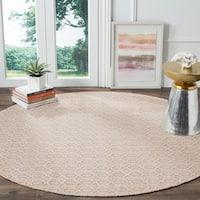 Safavieh Montauk Handmade Geometric Flatweave Ivory/ Grey Cotton Rug - 6' Round
