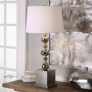 Uttermost Petrina Nickel Table Lamp