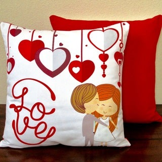 Artisan Pillows Valentine's Day Red 17-inch Indoor Throw Pillow
