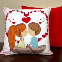 Artisan Pillows Valentine's Day Cotton and Linen 17-inch Indoor Throw Pillow