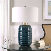 Uttermost Delane Dark Teal Table Lamp