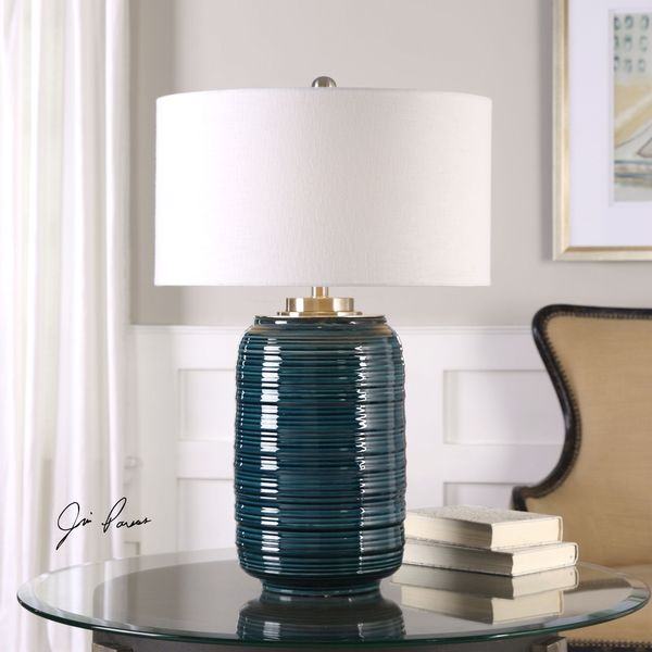 Uttermost Delane Dark Teal Table Lamp