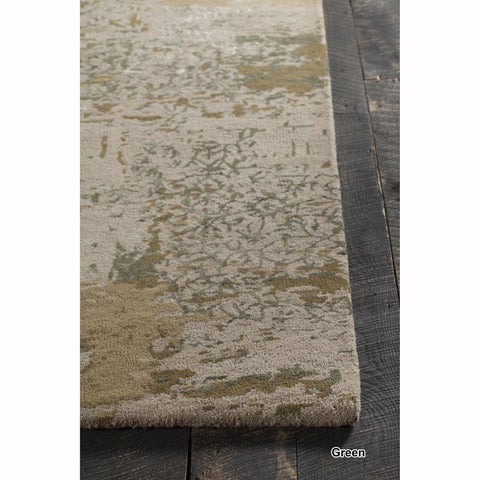 "Mandara Hand-Tufted Contemporary Abstract Pattern Rug (8'x19'2"")"