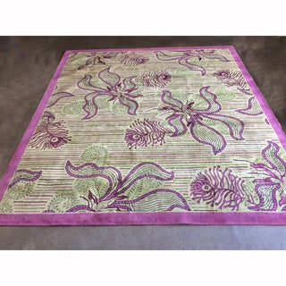 """Mandara Hand-Tufted Transitional Floral Pattern New Zealand Wool Rug (11'6""""x13')"""