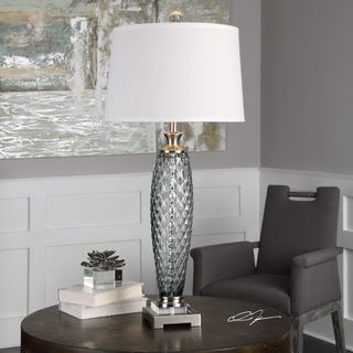 Uttermost Lonia Gray Glass Lamp
