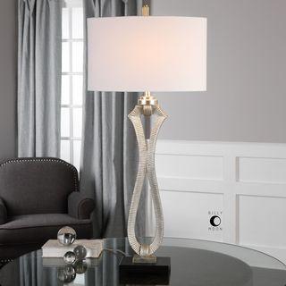 Uttermost Gerakas Ribbed Silver Lamp