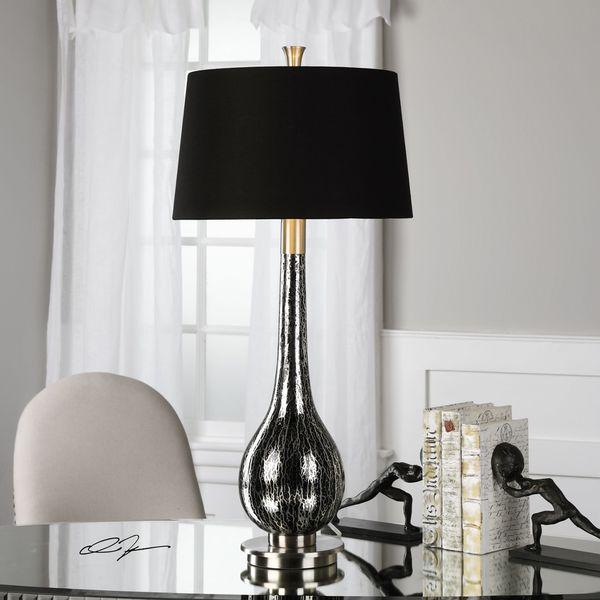 Shop Uttermost Komotini Black Mercury Glass Lamp Free