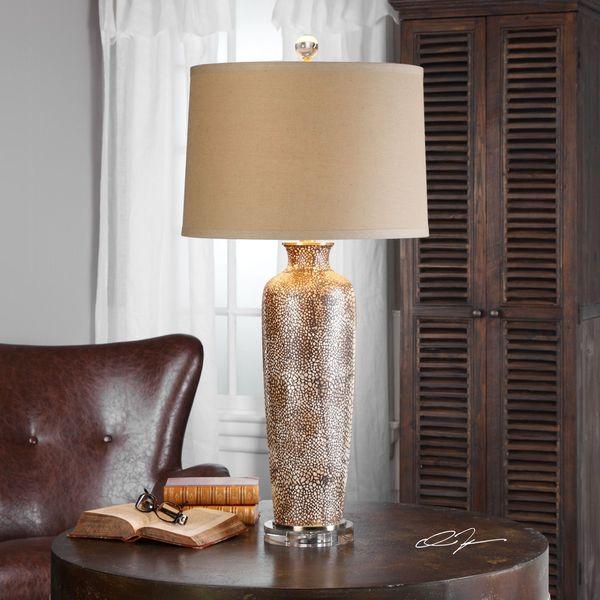 Uttermost Reptila Textured Ceramic Lamp