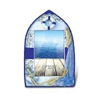 Puzzled Blue Wood Nautical Photo Frame