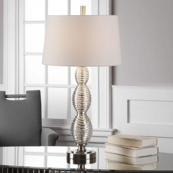 Uttermost Galatsi Ribbed Mercury Glass Lamp