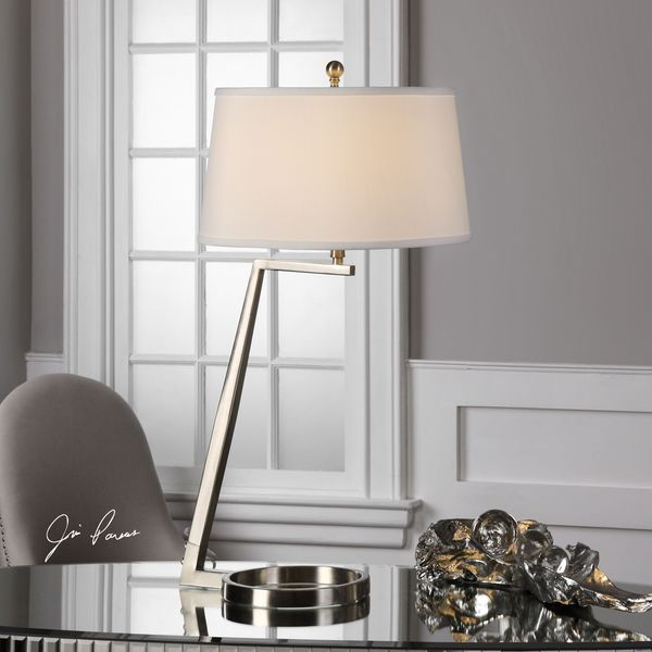 Uttermost Ordino Brushed Nickel Lamp