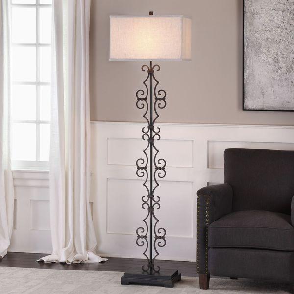 Uttermost Adelardo Rust Bronze Floor Lamp