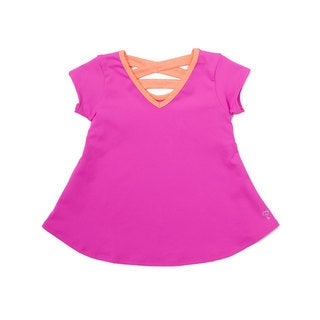 GIRL POWER SPORT FUCHSIA AND CORAL SWING TOP