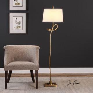 Uttermost Dalia Twisted Gold Floor Lamp