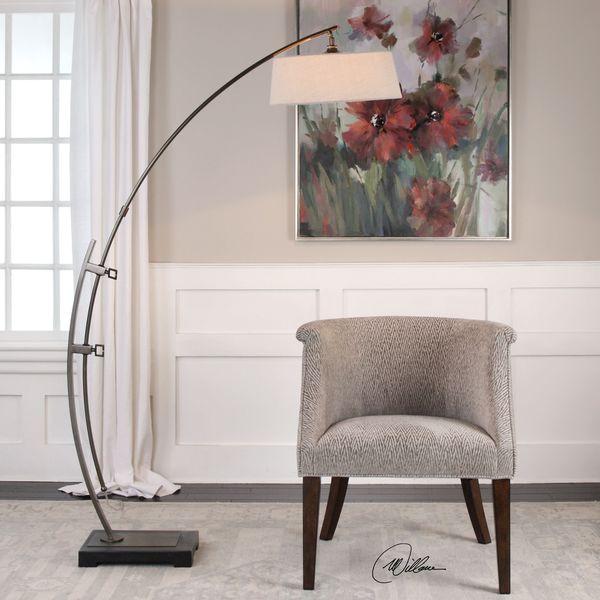 Shop uttermost calogero bronze arc floor lamp free shipping today uttermost calogero bronze arc floor lamp aloadofball Images