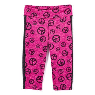 GIRL POWER SPORT FUCHSIA PEACE LEGGING
