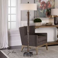 Uttermost Rhett Burnished Oak Floor Lamp