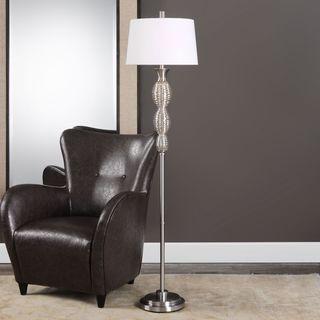 Uttermost Galatsi Ribbed Mercury Glass Floor Lamp