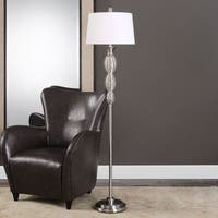 Uttermost Galatsi Ribbed Mercury Glass Floor Lamp