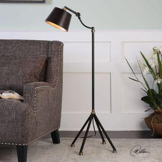 Uttermost Marias Black Metal Floor Lamp
