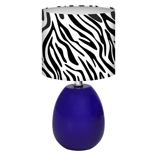 Glow Melon Zebra Table Lamp