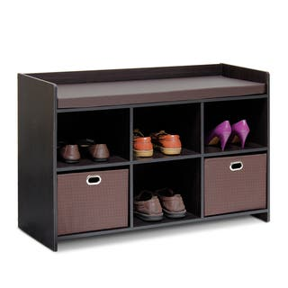 Furinno Econ Brown Cushioned Storage Bench|https://ak1.ostkcdn.com/images/products/13687738/P20351242.jpg?impolicy=medium