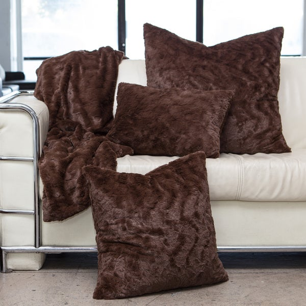 Strick & Bolton Candida Faux Fur Pillows, Throw, and/or Set
