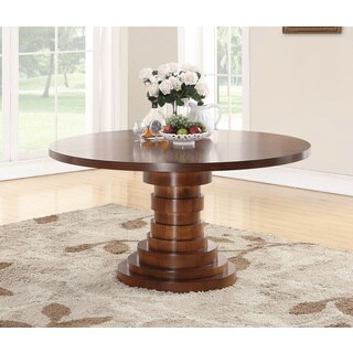 Abbyson Brompton Round Dining Table - Brown