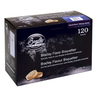 Bradley Smoker Brown Plastic Special Blend Flavor Bisquettes (Pack of 120)