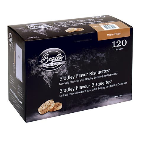 Bradley Smoker Brown Plastic Maple Flavor Bisquettes (Case of 120)