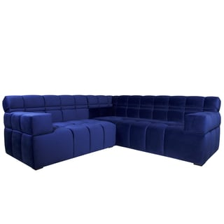 JAR Designs U0027Boxteru0027 Velvet 2 Piece Sectional Sofa