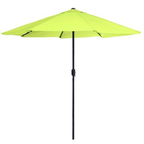 Pure Garden 9 Foot Aluminum Patio Umbrella with Auto Crank