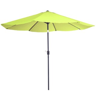 Pure Garden 10 Foot Aluminum Patio Umbrella with Auto Tilt
