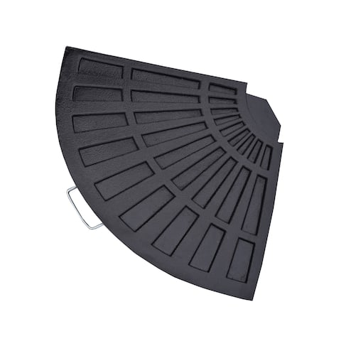 Oakland Living Corporation Black Polyresin Rust-free Fan-shaped Weight
