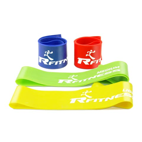 Furinno RFitness Professional Stretch Latex Resistance Training Exercise Band Set (4-piece set)